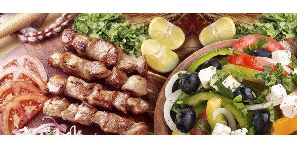Velké řecké menu - gyros, souvlaki, tzatziky pro DVA