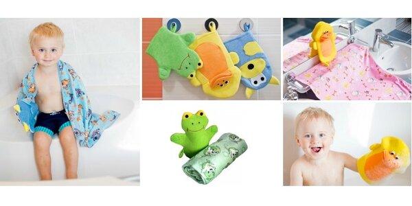Extra savý dětský ručník nebo osuška z mikrokrovlákna + dárek žínka ve tvaru…