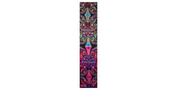Dámský pestrobarevný hedvábný šál Custo Barcelona s potiskem