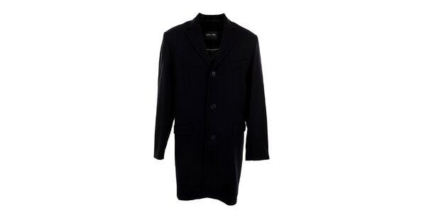 Pánský dlouhý černý kabát Pietro Filipi