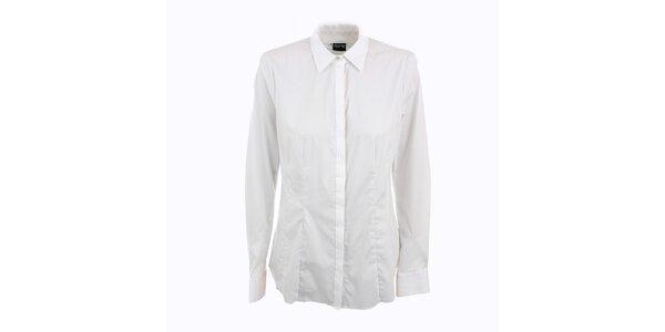 Dámská bílá košile Pietro Filipi s malými tečkami