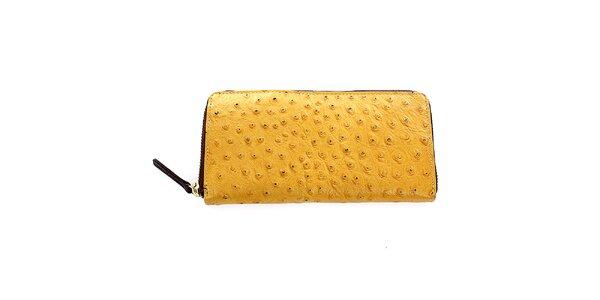 Dámská žlutá kožená peněženka Pietro Filipi