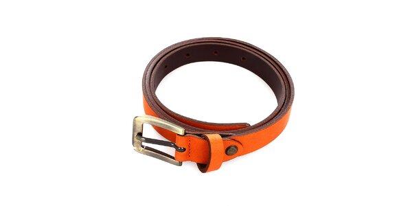 Dámský kožený oranžový pásek Pietro Filipi