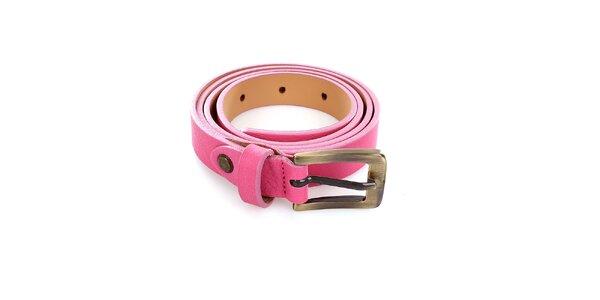Dámský kožený růžový pásek Pietro Filipi