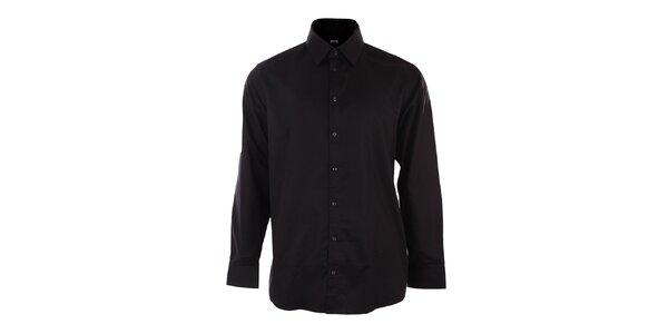 Pánská černá obleková košile Pietro Filipi