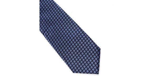 Pánská modrá hedvábná kravata Pietro Filipi