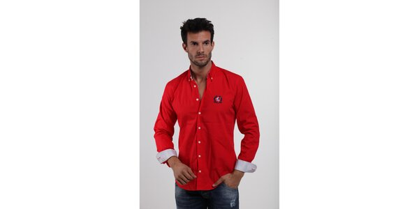 Pánská ohnivě červená košile Giorgio di Mare