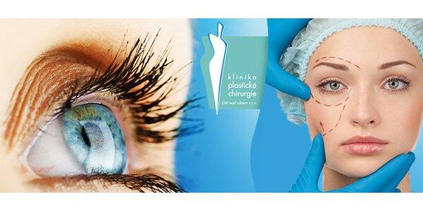 Plastika horních očních víček od odborníka