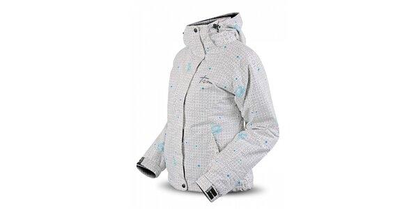Dámská bílá lyžařská bunda Trimm s potiskem
