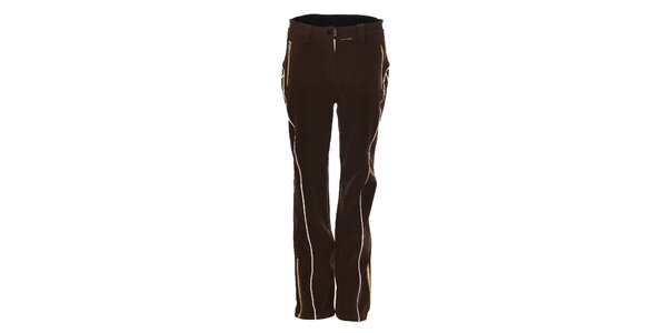 Dámské tmavě hnědé softshellové lyžařské kalhoty Trimm