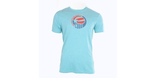 Pánské modré tričko s potiskem Exe Jeans