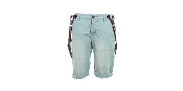 Pánské světle modré kraťasy se šlemi Exe Jeans