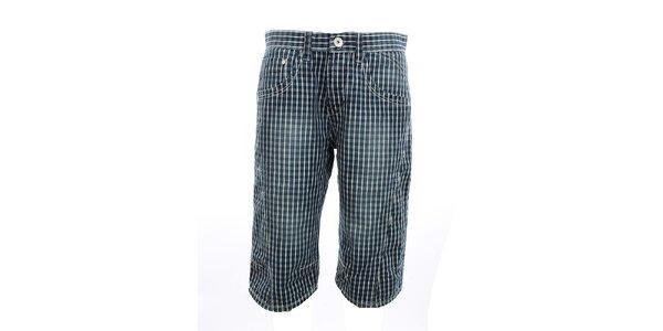 Pánské kostkované džínové kraťasy Exe Jeans