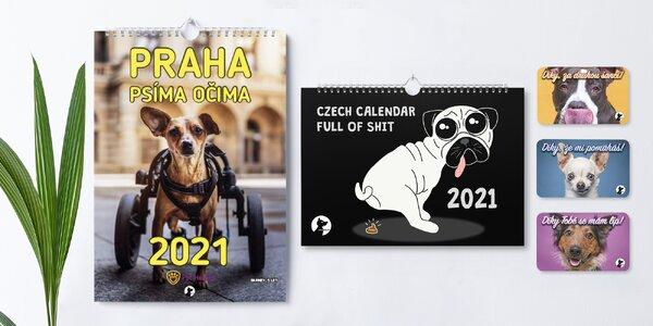 Charitativní psí kalendáře 2021 i magnetky
