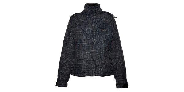 Dámská černá lyžařská bunda Trimm s potiskem