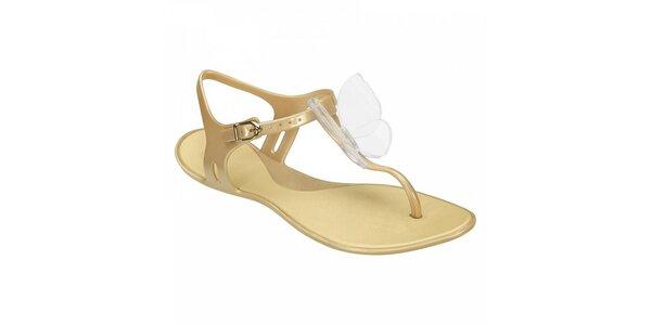 Dámské zlaté sandály Mel