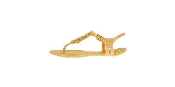 Dámské zlaté sandály Mel se sovičkou