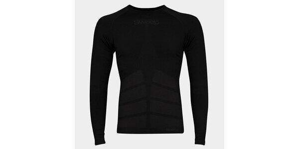 Pánské černé bezešvé tričko Sweep s dlouhým rukávem