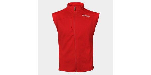 Pánská červená sportovní vesta Sweep