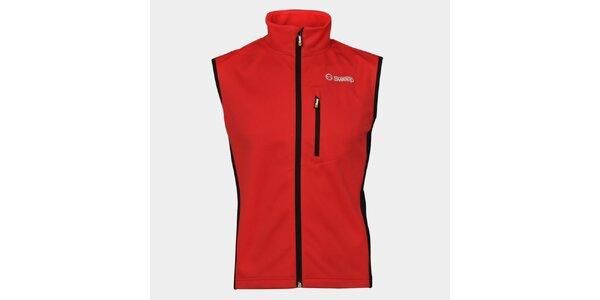 Pánská červená softshellová vesta Sweep