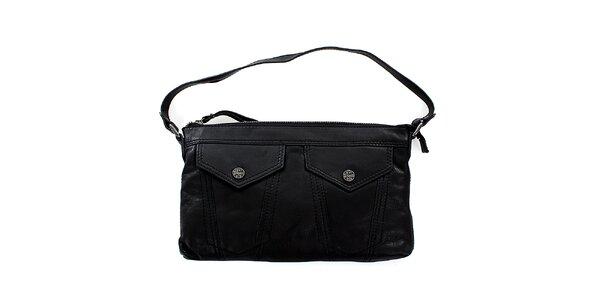 Dámská černá kožená kabelka Levis s kapsami