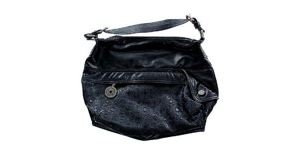 Dámská černá kabelka Levis s vtlačenými kroužky