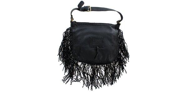 Dámská černá kabelka s třásněmi Levis