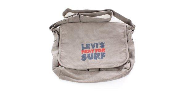 Béžová surfařská taška s potiskem Levis