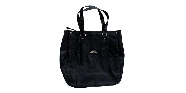 Dámská černá kabelka s ozdobným pletením Levis