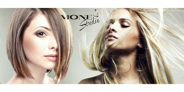 Kreativní kadeřnický střih v salonu Mone