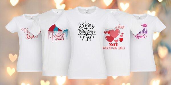 Romantická trička pro zamilované: 10 potisků