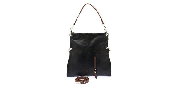Dámská černá kabelka se svislým zipem Free for Humanity