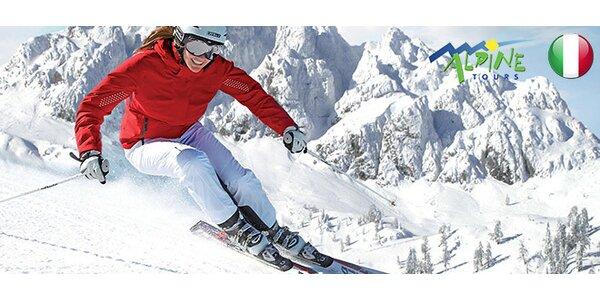Na lyže do Itálie. 8 dní pro DVA, polopenze, 4* wellness hotel