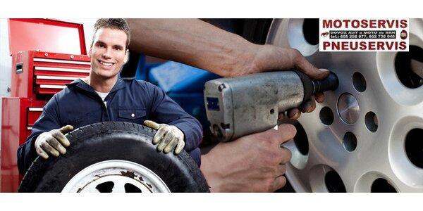 Výměna všech pneumatik v Pneu Centru