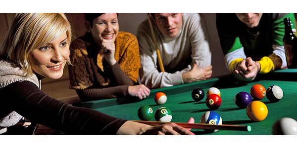 Dvě hodiny poolu, snookeru nebo karambolu