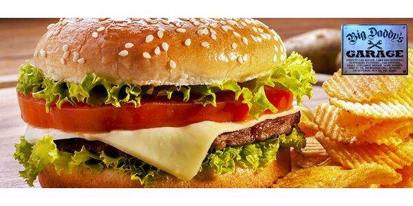 2 výborné burgery v restauraci Big Daddy's Garage