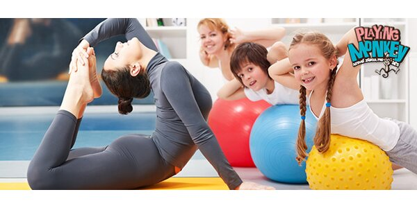 Cvičení pro ženy i pro děti v klubu Playing Monkey