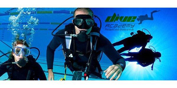 Kurz potápění s mezinárodní certifikací PADI či NAUI