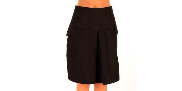Dámská černá sukně s klopami Tonala