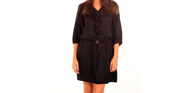 Dámské černé šaty s výšivkou Tonala