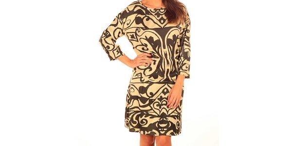 Dámské šaty s abstraktním potiskem Tonala