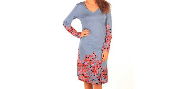 Dámské světle modré šaty s potiskem Tonala