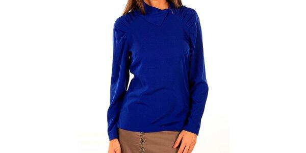 Dámské královsky modré triko se sklady Tonala