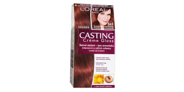 CASTING Créme Gloss 565 granátová červenohnědá