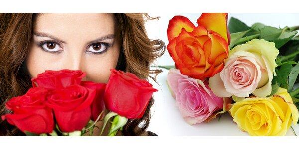 Valentýnská kytice pěti růží z Holandska!
