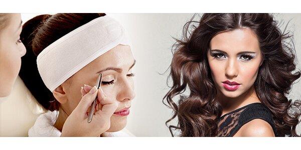 Barvení řas a obočí, úprava obočí + maska na oči