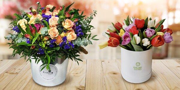 Květinové boxy dle výběru včetně dopravy po Praze