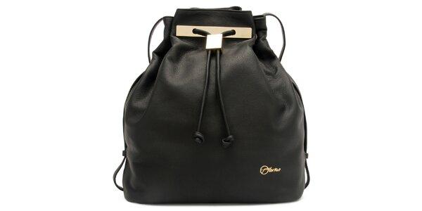 Dámská černá kožená kabelka Florian London