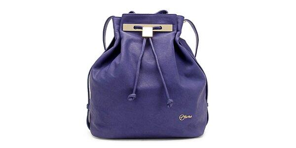 Dámská fialová kožená kabelka Florian London