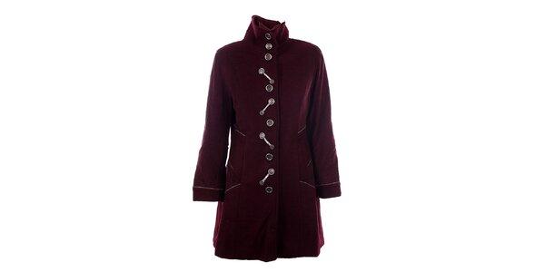 Dámský bordó kabát DY Dislay Design